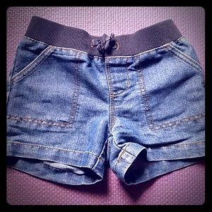 Sweatband jean shorts
